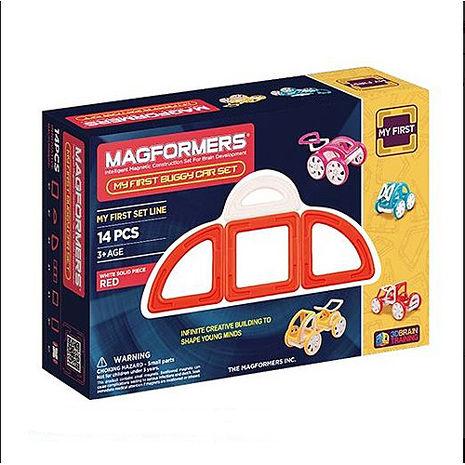 【Magformers 磁性建構片】寶貝金龜車14pcs-紅