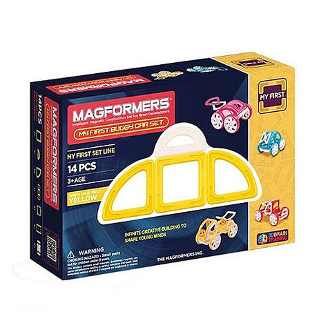 【Magformers 磁性建構片】寶貝金龜車14pcs-黃