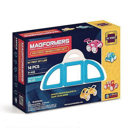 【Magformers 磁性建構片】寶貝金龜車14pcs-藍