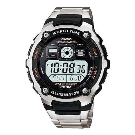 CASIO 勁戰潛武者運動電子錶-鋼帶(AE-2000WD-1A)