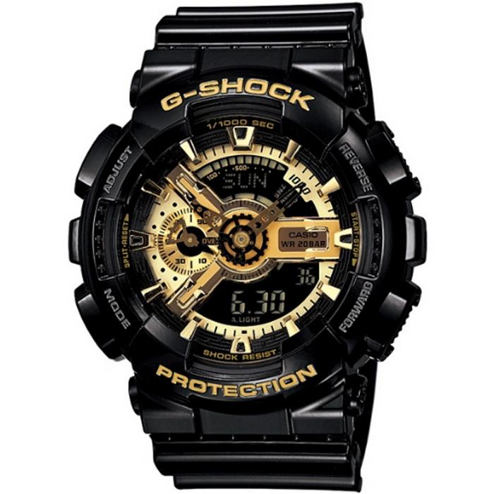 G-SHOCK 低調奢華男錶-黑x金_GA-110GB-1A