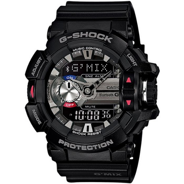 G-SHOCK GMIX GBA-400音樂控制系列錶款-黑_GBA-400-1A