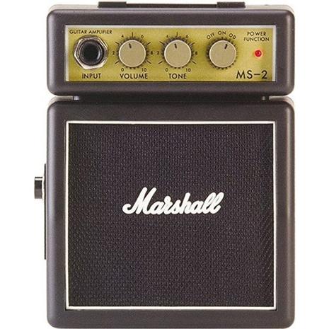 【Marshall】MS-2 英國知名品牌 迷你電吉他音箱 攜帶式音箱 小音箱(MS2)