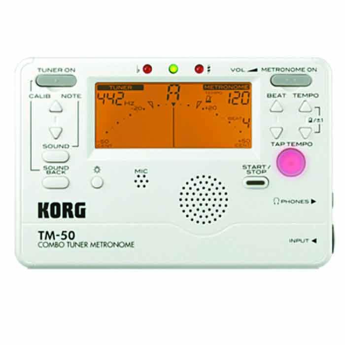 【KORG】TM-50'白色'電子調音節拍器(TM50) 總代理原廠公司貨'吉他,貝斯,弦樂,管樂,烏克麗麗皆適用'