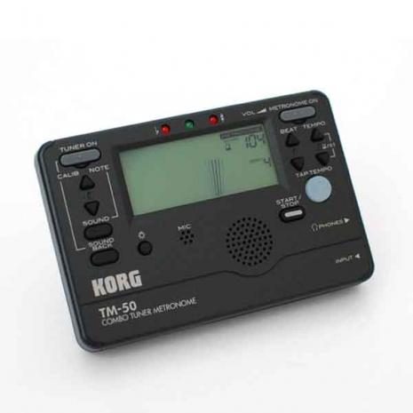 【KORG】TM-50'黑色'電子調音節拍器(TM50) 總代理原廠公司貨'吉他,貝斯,弦樂,管樂,烏克麗麗皆適用'