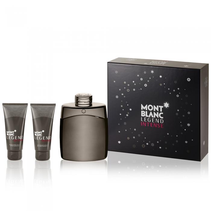 Montblanc Legend Intense 傳奇極致男性淡香水禮盒三件組 100ml+精美名片夾+沐浴球