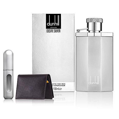 Dunhill Desire Silver 登喜路銀光男性淡香水 100ml+精美名片夾+香水分裝瓶