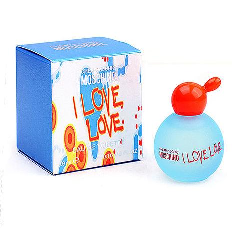 Moschino I Love Love 愛戀愛女性淡香水迷你瓶 4.9ml
