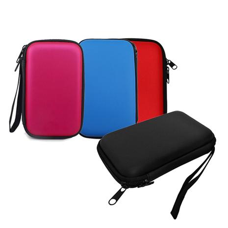 HDD盒多功能防震保護套 (小物,硬碟,PSP GO主機等適用)【黑/紅/紫紅/藍】