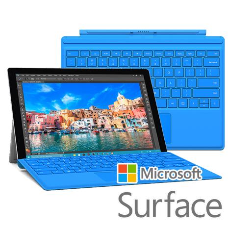【福利品】原廠 Microsoft 微軟 Surface Pro 4 鍵盤 (CM-SP4) -天藍色