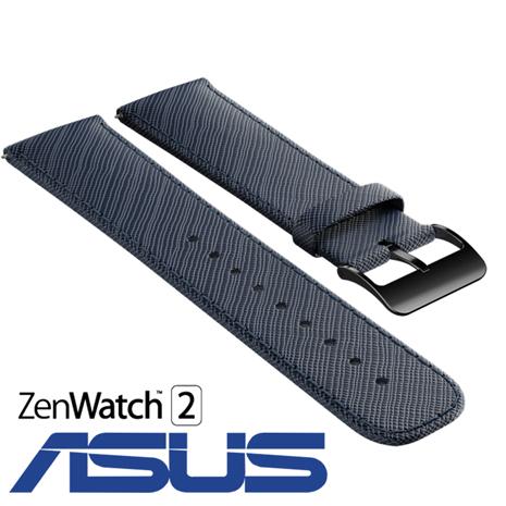 【原廠】ASUS ZenWatch 2 STRAPS 錶帶 -真皮伯爵藍 (WI501Q 適用)