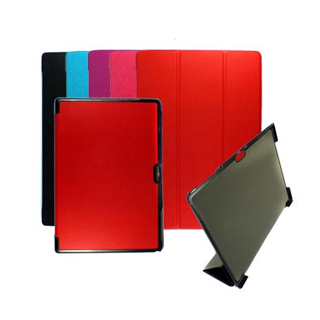 微軟 Microsoft Surface Pro 4 12吋 專用卡斯特紋三折皮套