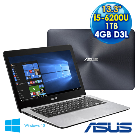 【福利品】ASUS  華碩 X302UV-0021A6200U  (i5-6200U/13.3F/4G3L/1TB/W10)  2G獨顯 效能筆電