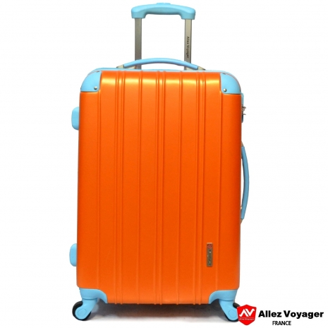 【法國 奧莉薇閣】繽紛系列-彩妝玩色風〝亮橘色〞輕量24吋行李箱/旅行箱登機箱
