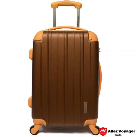 【法國 奧莉薇閣】繽紛系列-彩妝玩色風〝古銅色〞輕量24吋行李箱/旅行箱登機箱