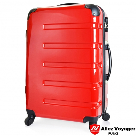 【法過 奧莉薇閣】風華絕色〝紅色〞PC鏡面 輕量24吋旅行箱/行李箱