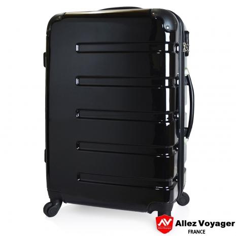 【法國 奧莉薇閣】風華絕色〝黑色〞PC鏡面 輕量24吋旅行箱/行李箱