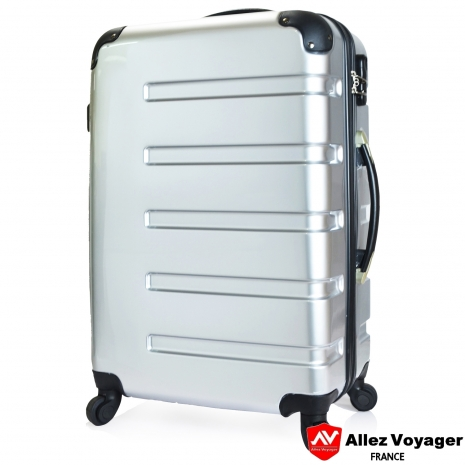 【法國 奧莉薇閣】風華絕色〝銀色〞PC鏡面 輕量24吋登機箱/行李箱