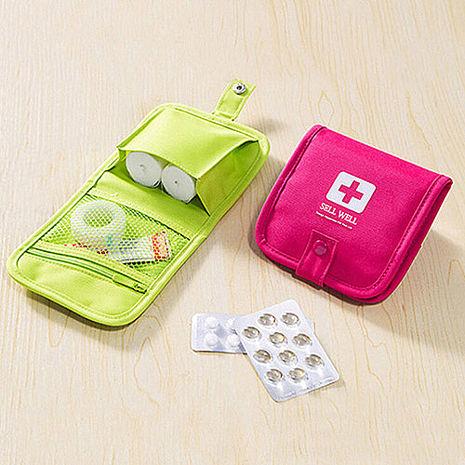 【旅遊首選,旅行用品】便攜隨身急救包子母扣收納包 迷你收納 醫藥包