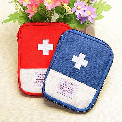 【旅遊首選,旅行用品】便攜隨身急救包拉鍊收納包 迷你收納 醫藥包