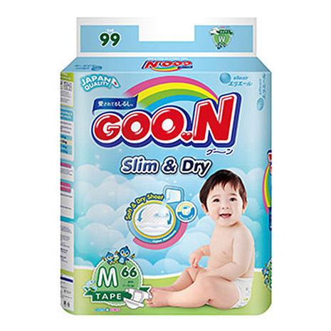 【GOO.N 日本大王】紙尿褲國際版 M(66片X4串/箱) 贈多芬洗髮精一罐