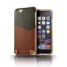~n.max.n~iPhone 66S  4.7吋 極簡系列雙色皮革保護套~軍綠 淡巧克力