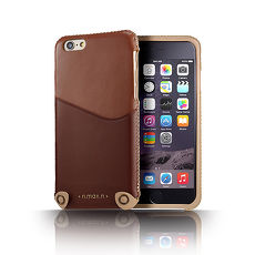 ~n.max.n~iPhone 66S 4.7吋 極簡系列雙色皮革保護套~淡巧克力棕 濃巧
