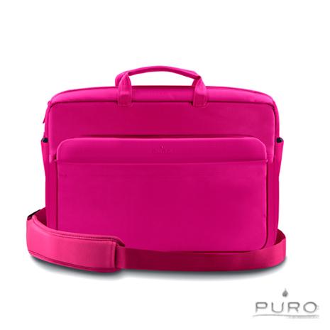 【PURO】17吋Apple MacBook Air/Pro 典雅風格電腦保護包-粉紅