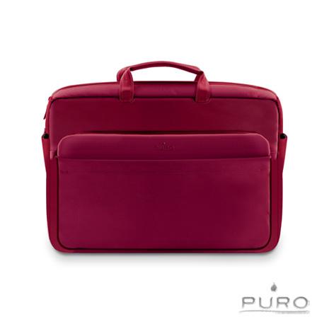 【PURO】17吋Apple MacBook Air/Pro 典雅風格電腦保護包-深紅