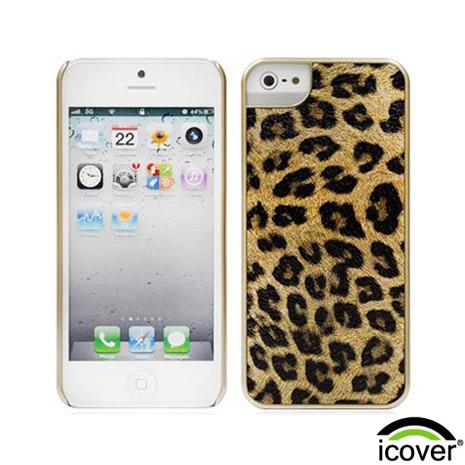 【icover】iPhone5/5s/SE 豹紋系列保護殼- 金錢豹