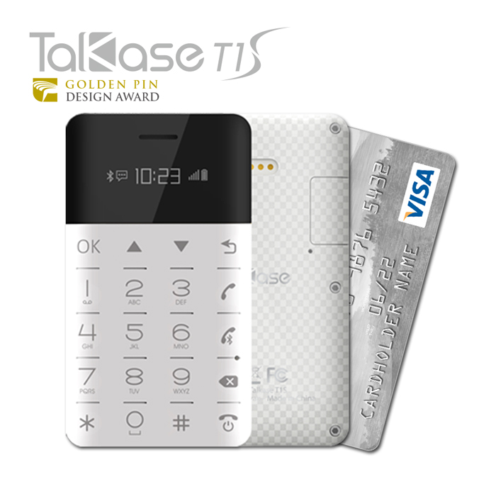 TalKase 超薄智慧卡片機 T1 S尊爵版 -格紋白