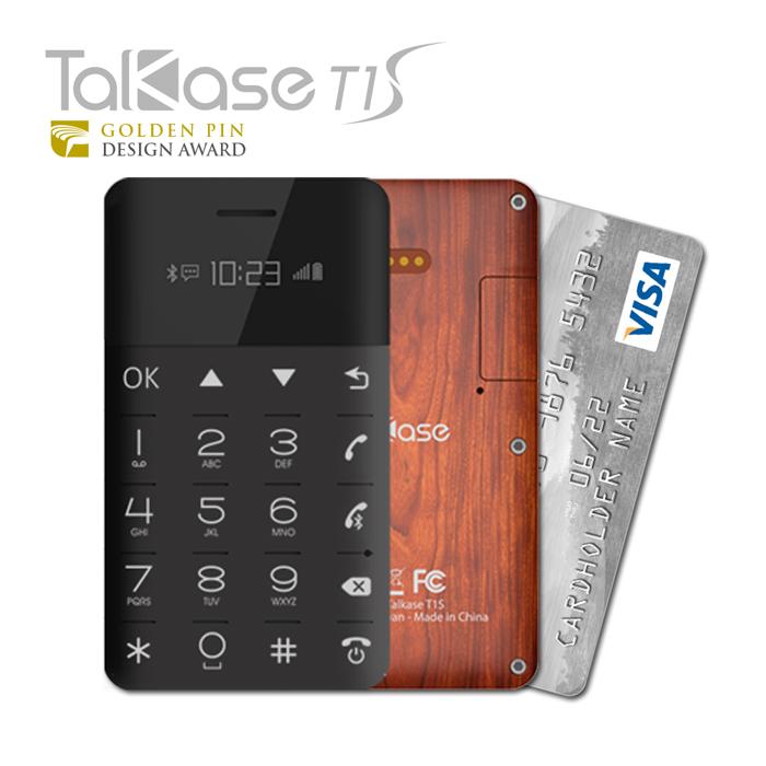 TalKase 超薄智慧卡片機 T1 S尊爵版 -紅木紋