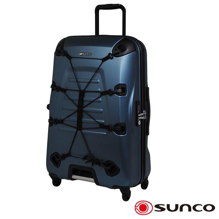 【日本 SUNCO】日本設計 25吋 PC 拉鍊拉桿 360度超靜音車輪 輕量 行李箱 -橄欖綠