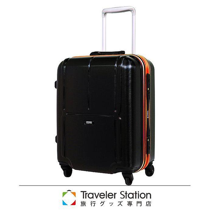 【日本Traveler Station】19吋 PC 鋁框拉桿 超靜音輪 行李箱 -橘框