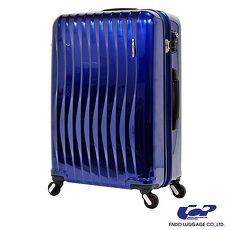 ~ ENDO~極輕波紋 19.5吋 PC 拉鍊拉桿 360度超靜音車輪 輕量 行李箱 旅行