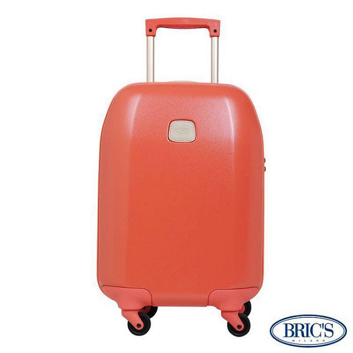【米蘭 BRICS】經典輕量 21吋 PC 拉鍊拉桿 360度靜音輪 行李箱 - 蜜桃粉