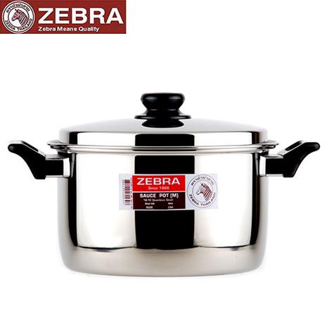 【斑馬ZEBRA】頂級不鏽鋼雙耳湯鍋(28cm_7.3L)
