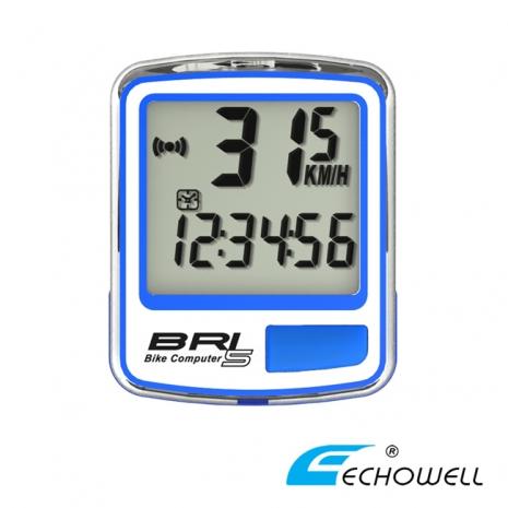 ECHOWELL BRI-5 多功能自行車有線碼錶 藍