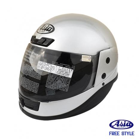 """ASIA A801"" FreeStyle 全罩式安全帽 銀"