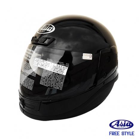 """ASIA A801"" FreeStyle 全罩式安全帽 黑"