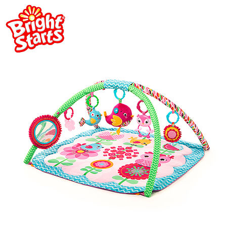 Kids II Bright Starts 粉紅快樂小鳥遊戲墊