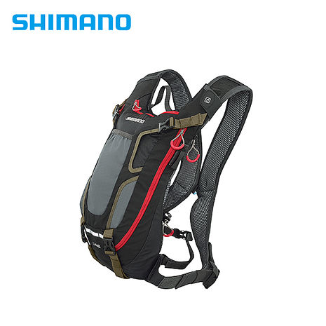 SHIMANO UNZEN ENDURO後背包 無水袋 4L 黑/軍綠色