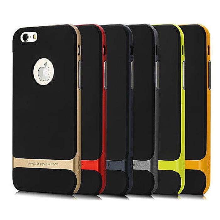 ROCK iPhone 6 Plus 5.5吋 萊斯系列保護殼 (黃色邊框)