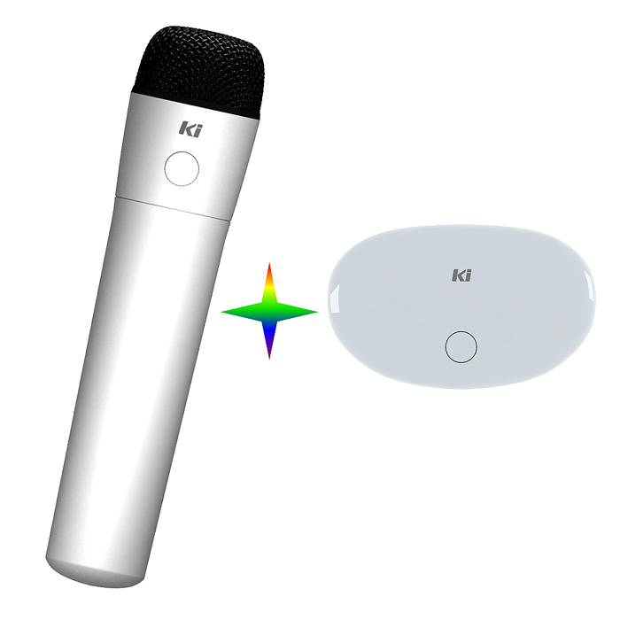 Lantic 喬帝 Ki MU006FR 彩虹知音 無線K歌吧 (麥克風+接收器) 無線麥克風組