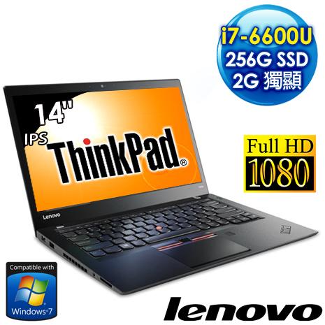 【送Mcafee防毒 3年】Lenovo ThinkPad T460s 20F9A02YTW 14.1吋FHD畫質筆電 (i7-6600U/8G/2G獨顯/256GSSD/Win7 Pro)