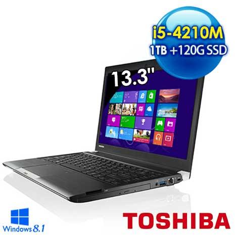 Toshiba R30-A 120G超值雙碟版 13.3吋筆電 (i5-4210M/8G/1TB+120G/WIN8.1/黑)
