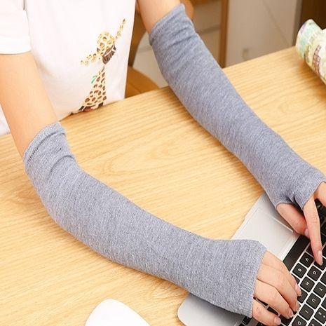 i 美麗-淺灰色保暖長袖套(買一送一)