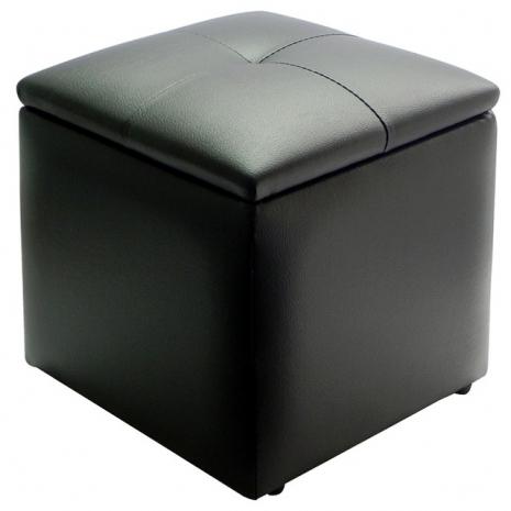 [買一送一]★NICE方甜收納椅-黑色↘特賣