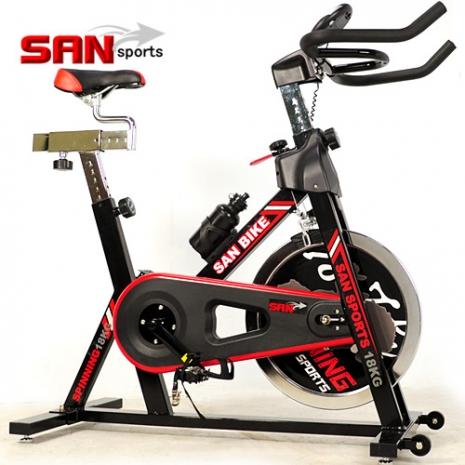 【SAN SPORTS 山司伯特】黑爵士18KG飛輪健身車