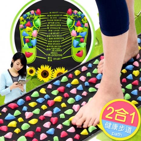 促銷-居家仿鵝卵石路健康步道-彩色版